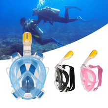 Free Shipping TOMSHOO Diving Mask Scuba Mask Underwater Anti Fog Full Face Snorkeling Mask Swimming Diving Equipment with Holder