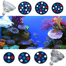 E27 15W 21W 27W 36W 45W 54W Blue White LED Coral Reef Grow Light Sump Alage Fish Tank Aquarium Light Lamp PAR38/30 LED Bulbs