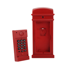 Red telephone booth cabinet for the home telefon Land Line 1 Home Desk Telephone telephone Corded phones Newest telefone1PCS(China)