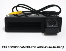 CCD Car Boot / Trunk Handle Reverse Backup Rear View Camera For Audi A3 A4 A6 A6L A8 Q7 High Quality Auto Vehicle Parking Assist