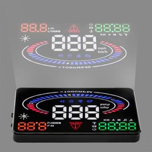Car HUD Head Up Display Engine Fault Alarm Fault Code Elimination 2D Vision Reflection E300 Upgrade Version 5.5 inch(China)