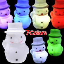 Color Changing LED Christmas Tree/Snow Man/Candle/Rose/Angel Night Light Lamp UK