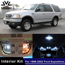 Edislight 10Pcs White Ice Blue Canbus LED Lamp Car Bulbs Interior Package Kit For 1999-2002 Ford Expedition Map Dome Plate Light(China)