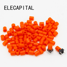 100pcs/lot Red Plastic Cap Hat for 6*6mm G61 Tactile Push Button Switch Lid Cover Free Shipping