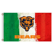 Green White Red Color Chicago Bears Flag Banners Football Team Flags 3x5 Ft Super Bowl Champions Banner Red Star