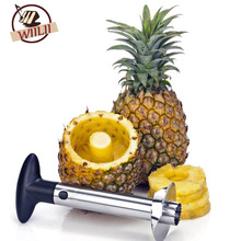 Stainless Steel Pineapple Peeler Cutter Slicer Corer Peels Cores Slices Plus Apple Corer Fruit Paring Knife Vegetable Tools(China)