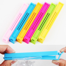 6PCS/pack Hot Sale Home Food Close Clip Seal Bags Storage Sealing Rods Sealer Clips Drop Shipping 10.5*1.4cm 1376