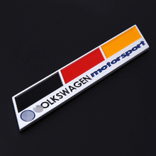Germany Accessories Decal Racing Volkswagen Logo Vinyl Car Sticker Vw Plol Golf 6 Metal Badge Automobile Car Emblem with Glue
