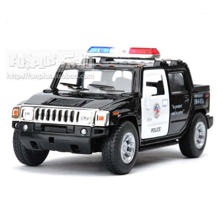 High Simulation Exquisite Model Toys KiNSMART Car Styling U.S. Police CCar Hummer H2 Off-Road SUV 1:40 Alloy Car Model Best Gift(China)