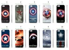 vcustom Mobile Phone Case Wholesale 10pcs/lot Captain American Logo Design Protective White Hard Case Cover For iphone 4 4s