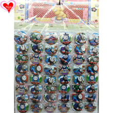 Love Thank You Thomas and Friends Engine train 45MM 16/24/32/40/48 pcs lot PIN BACK BADGE BUTTON BROOCH BAG TOY CLOTH Anime