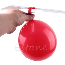 10Pcs/ Lot Traditional Classic Balloon Helicopter Kids Child Children Play Flying Toy(China)