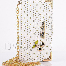 S3 Case Bling Stars Skin Wallet Handbag Carry Strap Chain Flip Phone Leather Cover Case For Samsung Galaxy S3 Cover i9300
