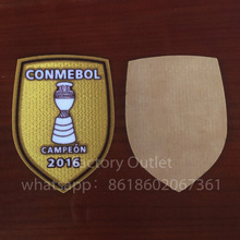 10 pcs a lot 2016 America Campeon Chile Copa soccer patch Chile national team Champion patch badge free ship(China)