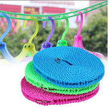 Hot sales Adjustable Windproof Nylon 5m Outdoor Anti Slip Slide Drying Clothes Hanger Clothesline Rope Line Cord String Camping