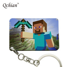 Hot Sandbox Game Minecraft Printed Pictures for Car Keychain or HandBag  Ornaments Pendant  Pictures can be Customized