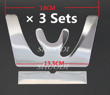 3 Sets Dental Occlusal Maxillary Casting Jaw Fox Plane Plate Autoclavable Stainless Steel(China)