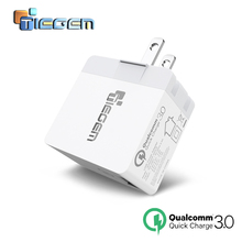 TIEGEM Quick Charge 3.0 Universal USB Wall Charger Adapter EU/US 18W Fast Smart Mobile Phone Charger for Samsung LG for iphone 7(China)