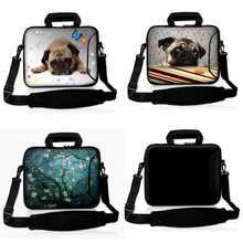 "Soft Neoprene Laptop Bag Shoulder Bag Handbag Case Outside Pocket,Outside Handle For 10.1"" 13.3"" 15.6"" 17.3"" Laptop Tablet(China)"