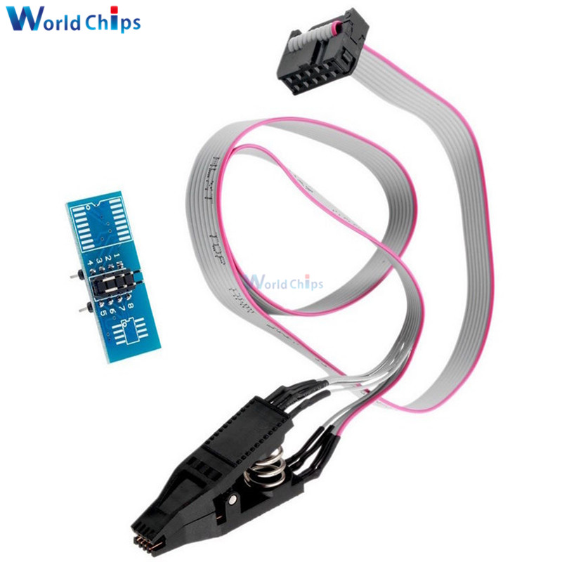 Free Shipping SOIC8 SOP8 DIP8 Flash Chip IC Test Clips Socket Adpter BIOS/24/25/93 Programmer(China)