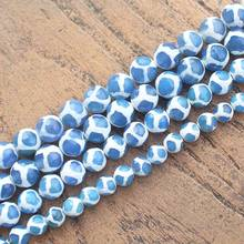 "Wholesale Blue Fire Agates & White stripe Beads 14.5""37cm,For DIY Jewelry Making !We provide mixed wholesale for all items!(China)"