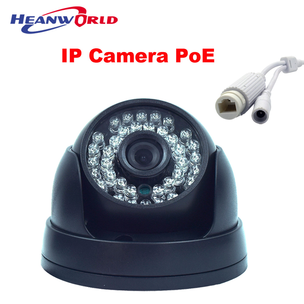 IP Camera PoE 720P 960P 1080P Indoor Dome Camera IP 48V PoE or 12V adapter Power Over Ethernet CCTV Cameras Security Network Cam<br>