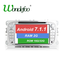 Android 7.1 CAR DVD GPS For FORD Mondeo S-MAX C-MAX Galaxy FOCUS with dvd player radio screen RAM 1G/2G ROM 16G/32G stereo