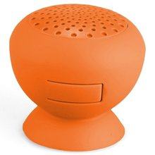 Brand New Mini Enceinte Haut Parleur Speaker Bluetooth Ventouse En Silicone Orange