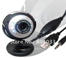 NEW USB 30M HD Camera with Microphone 30 Mega Pixel Web Cam 6 LED HD Webcam Camera MIC FOR PC LAPTOP