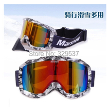 Hot selling Super Sports Ski Snowboard Skate Goggles Glasses Outdoor cycling Off-Road Ski Goggle Glasses Eyewear Lens(China)