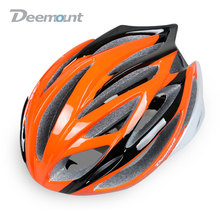 Deemount Bicycle Cycling Helmet MTB Mountain or Road Bike Safety Cap Integrally-molded 21 Air Vents PC Shell EPS Grey Foam(China)