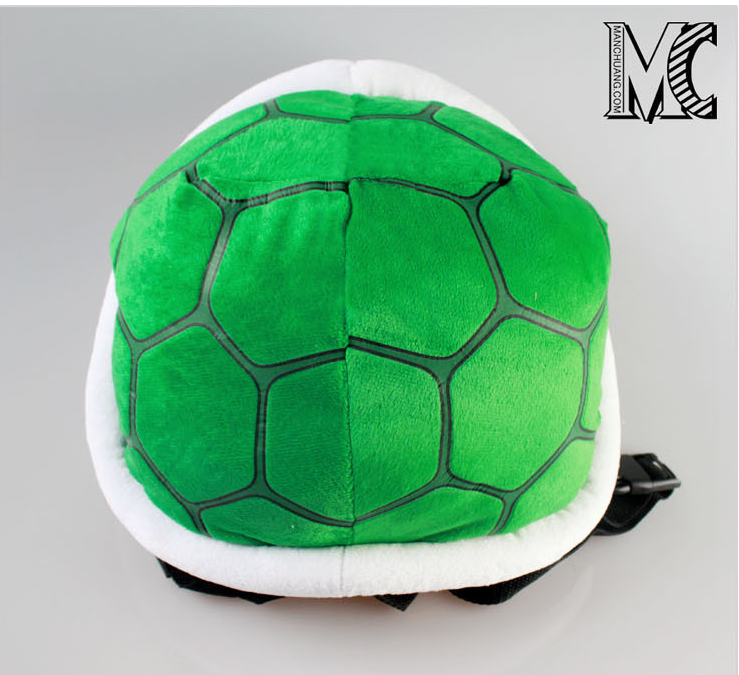 2017 Super Mario Bros Koopa Troopa Turtle Shell Plush Backpack Green Outdoor Travel Bag School Bag for Kids Girls Boys 35*30CM<br><br>Aliexpress