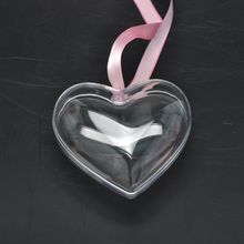 Heart Jewelry Box package Transparent Decoration Ornament Stage Plastic Wedding Candy Boxes Props Gift 5PCs