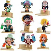 9pcs/lot Anime One Piece Full Set Action figures Model Toy Assembly Leisure Life Pirates Group(China)