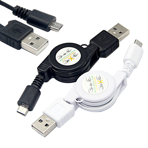 Hot Micro USB USB 2.0 B Male Retractable USB Cables Data Sync Charger Android High 9KNT