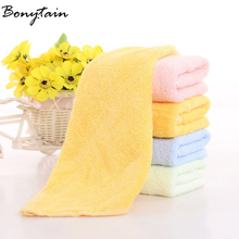 25*25cm Soft Cotton Terry Towel Bibs Kitchen Cleaning Hand Hair Bath Bathroom Towels for Kids Adults House Cleaning Wholesale(China)