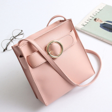 2017 Casual Small Lock Tote Handbags ladies PU leather hand bags Mini Shoulder Messenger Crossbody Bag Black Pink Gray