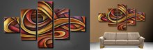 free shipping unique gift handpainted 5 piece contemporary abstract oil painting on canvas wall art for home decoration(China)