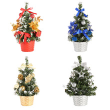 20CM Christmas Tree Decoration Holiday Home Mini Artificial Christmas Tree Decorations For Home Xmas Gift kerst decoratie
