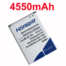 HSABAT 4550mAh B500BE B500AE Battery for Samsung Galaxy S4 Mini Battery i9190 i9192 i9195 i9198 Mobile PhoneBattery