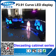TEEHO NEW P3.91 indoor curve led display ED Display DieCasting Cabinet panel led video rental advertising wedding hotel stadium