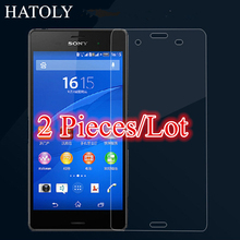 sFor Glass Sony Xperia Z3 Tempered Glass for Sony Xperia Z3 Screen Protector for Sony Z3 Glass D6603 D6653 D6616 L55T HATOLY ^
