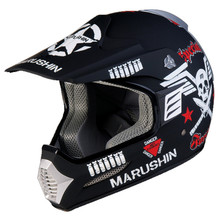 Marushin Moto rcycle шлем полный шлем Moto Racing frpmaterial матовый черный череп шлем Moto Casco Moto ciclistas Capacete(China)
