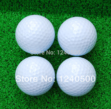 Free shipping 2 layer golf clubs brand new golf balls practice match ball distant ball wholesale&retail(China)