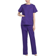 Unisex Medical Uniform Short Sleeve Doctor Clothes Woman&Man Scrubs Nursing Uniforms Hospital Surgical Scrub Sets Size S-2XL(China)