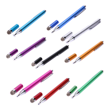 2 In 1 Metal Micro-Fiber Touch head Capacitive Pen Touch Screen Drawing Pen Stylus for iPhone iPad Table FW1S