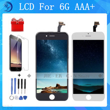 Hot Sale AAA 100% Brand New Top Quality For iPhone 6 LCD Display Touch Screen With Digitizer Assembly black white Freeshipp