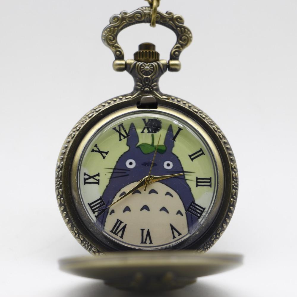 New-Antique-Black-Japanese-Anime-Totoro-Quartz-Pocket-Watch-Necklace-Pendant-Christmas-Gift-Clock (5)