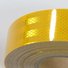 "2""x10' Diamond Grade Conspicity School Bus Yellow Reflective Safety Tape motorcycle helmet"