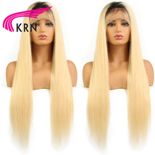 KRN 1B613 Straight Lace Front Human Hair Wigs Baby Hair Full Remy Hair Pre Plucked Brazilian Wigs Fashion Women